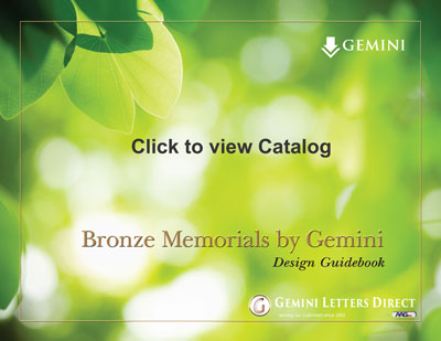 Gemini Cast Bronze Memorial Plaques